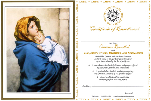 Madonna & Child Perpetual Enrollment